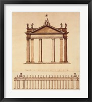 Framed Alternate Design For Piazza di San Pietro, (The Vatican Collection)