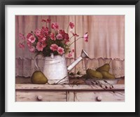 Framed Pink Flowers and Pears