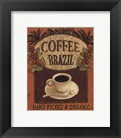 Coffee Blend Label IV Framed Print