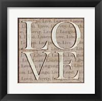 Framed L is for Love