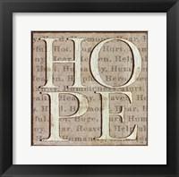 Framed H is for Hope