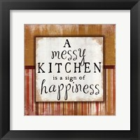 Messy Kitchen Framed Print