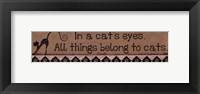 In a Cat's Eyes Framed Print