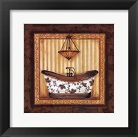 Framed Copper Paisley Bath I