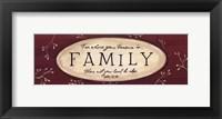 Framed Treasure is Family