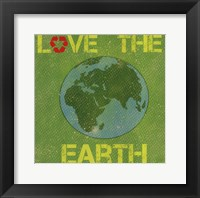 Framed Love the Earth