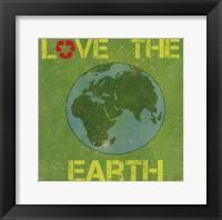 Framed Love the Earth
