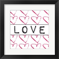 Framed Love - Pink Sharpie