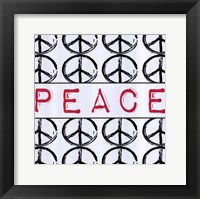 Peace - Pink with Peace Signs Framed Print
