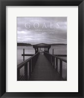 Goals Framed Print