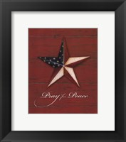 Framed Pray For Peace - Star