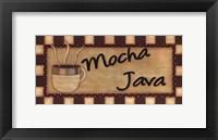 Framed Mocha Lava