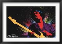 Framed Jimi Hendrix (Paint)