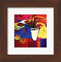 Framed Red Lillies With Oranges