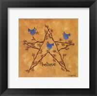 Framed Twiggy Believe