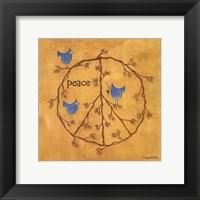 Twiggy Peace Framed Print