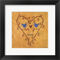 Twiggy Love Framed Print