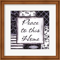 Framed Peace to This Home