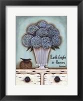 Earth Laughs in Flowers Framed Print