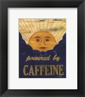 Powered by Caffeine Framed Print