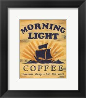 Morning Light Coffee Framed Print