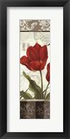 Etude en Rouge Panel II - mini Framed Print