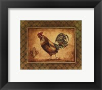 Country Rooster II - mini Framed Print