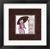 London in Pink Framed Print