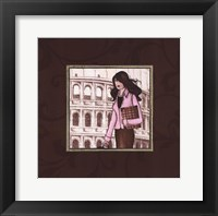 Roma in Pink Framed Print
