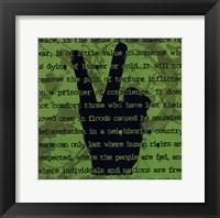 Peace Sign II Framed Print