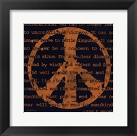 Peace Sign III Framed Print
