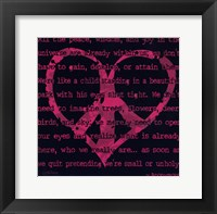 Peace Sign IV Framed Print