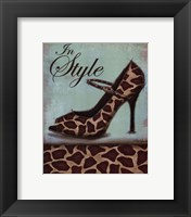 Giraffe Shoe - mini Framed Print