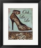 Framed Leopard Shoe
