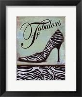 Framed Zebra Shoe