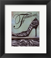 Zebra Shoe - mini Framed Print