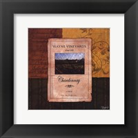 Chardonnay Wine Label Framed Print