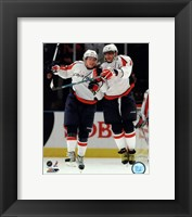 Framed Alex Ovechkin & Nicklas Backstrom 2009-10 Action