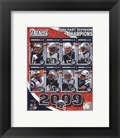 Framed 2009 New England Patriots AFC East Divison Champions Composite