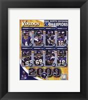 Framed 2009 Minnesota Vikings NFC West Divison Champions Composite