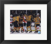 Framed Johnny Boychuk, Mark Recchi, David Krejci,Patrice Bergeron, & Derek Morris Celebrate Recchi's Goal 2010 NHL Winter Classic
