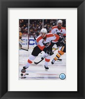 Framed Danny Briere 2010 NHL Winter Classic Action