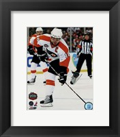Framed Mike Richards 2010 NHL Winter Classic Action