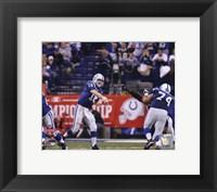 Framed Peyton Manning 2009 AFC Championship Game Action