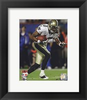Framed Marques Colston Super Bowl XLIV Action (#20)