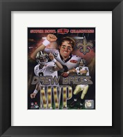 Framed Drew Brees Super Bowl XLIV MVP Portrait Plus (#21)