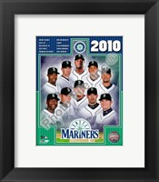 Framed 2010 Seattle Mariners Team Composite