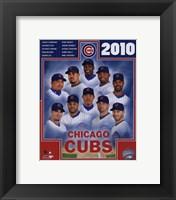 Framed 2010 Chicago Cubs Team Composite