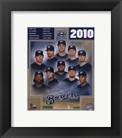 Framed 2010 Milwaukee Brewers Team Composite