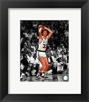 Framed Larry Bird Spotlight Action